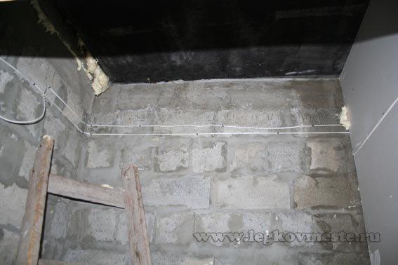 Выравнивание стен гипсокартоном (электропроводка)