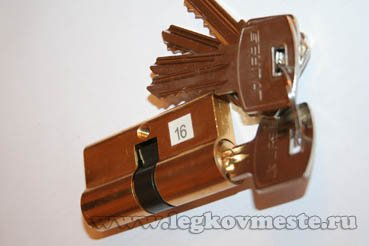 Личинка замка с ключами