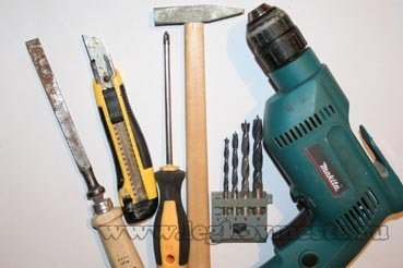 Инструменты для замены замка