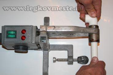 Процесс сварки пластиковых труб