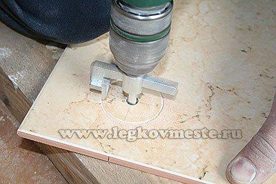 Отверстия в керамической плитке