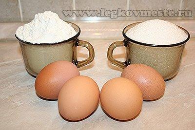 Ингредиенты для сладкой выпечки