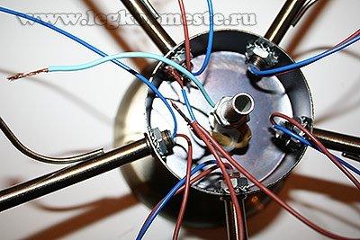 Подключаем фазные провода первой группы