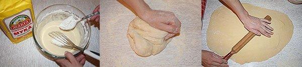 Раскатываем тесто для вареников с творогом