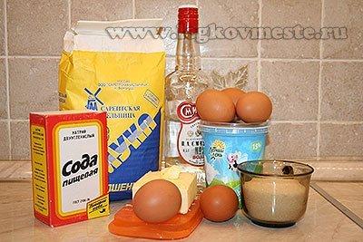 Ингредиенты для хвороста