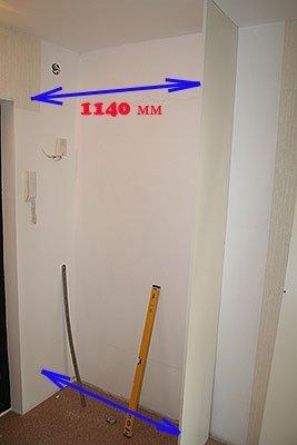Установка вертикальной перегородки шкафа