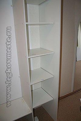 Установка крайней правой стенки шкафа