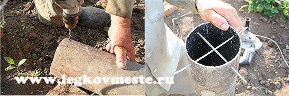 Монтируем опоры для вытяжной трубы