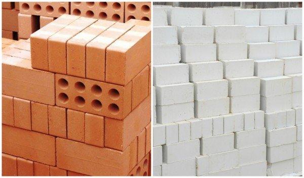 глиняный и силикатный кирпичи