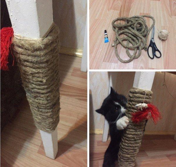 Идеи когтеточка для кошек своими руками 86