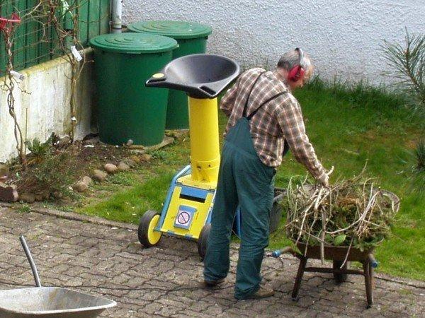 садовый измельчитель шредер
