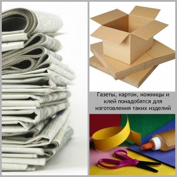 материалы для мебели из газетных трубочек