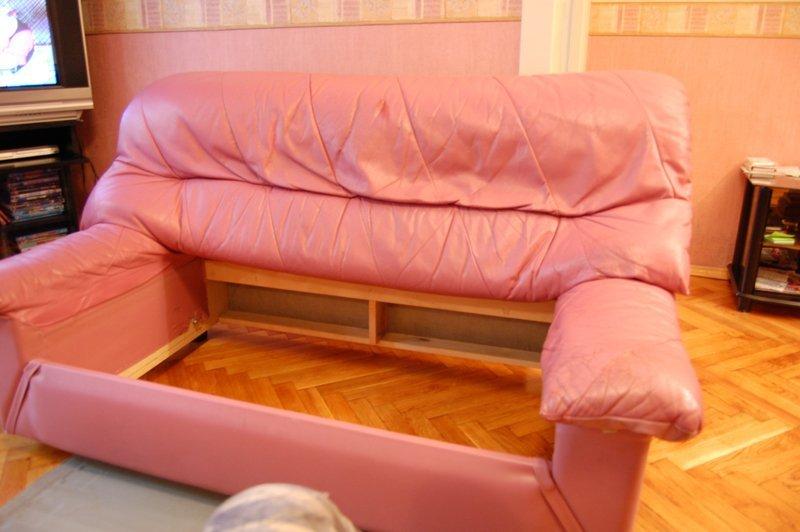 Как своими руками обшить диван