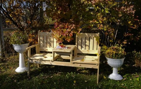 расположение скамейки в саду