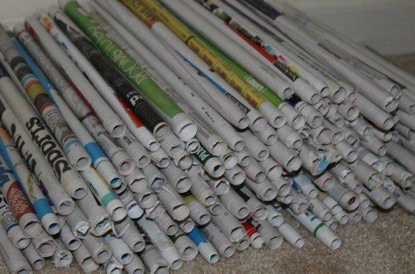 газетные трубочки для мебели