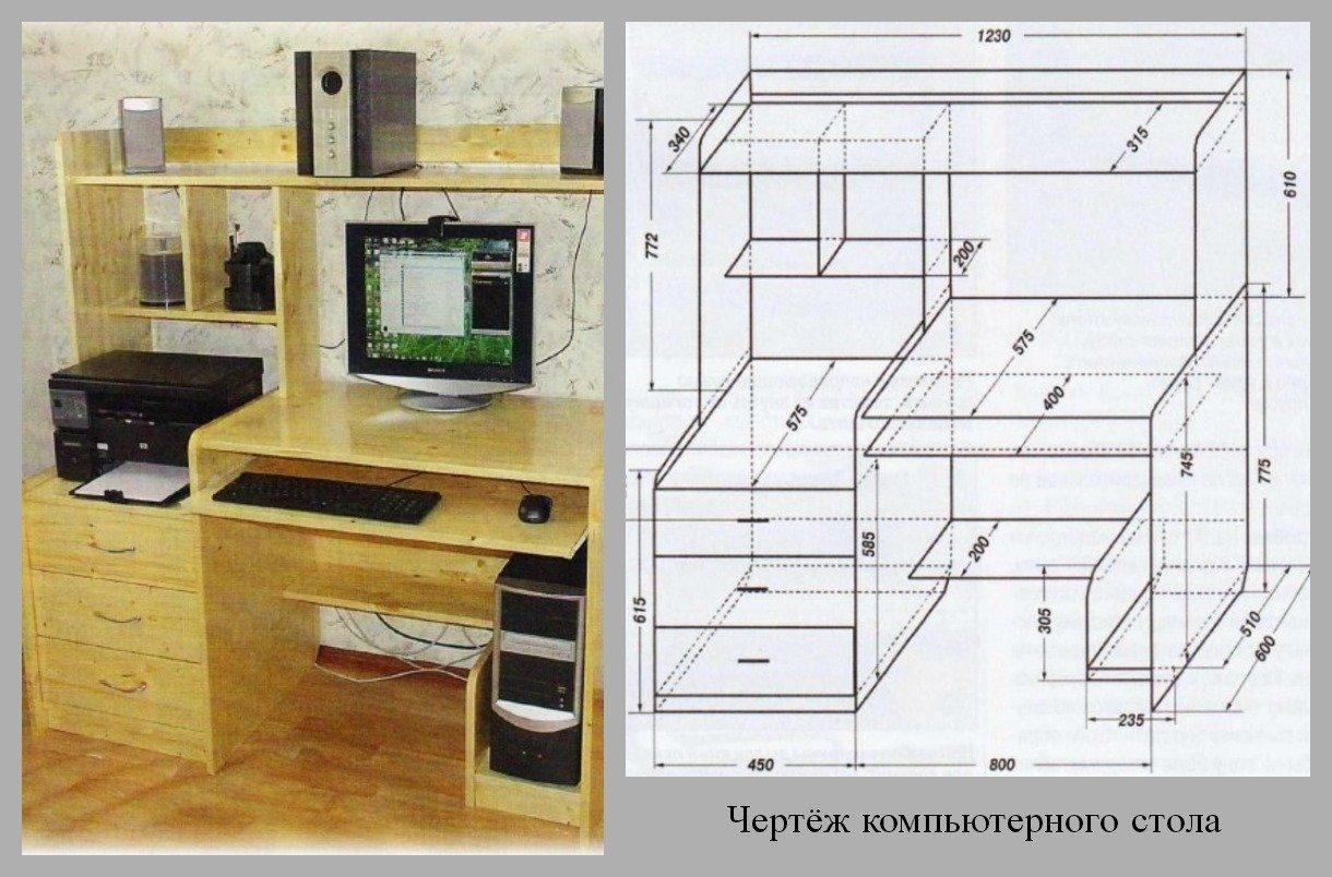Компьютерный стол своими руками видео фото 125