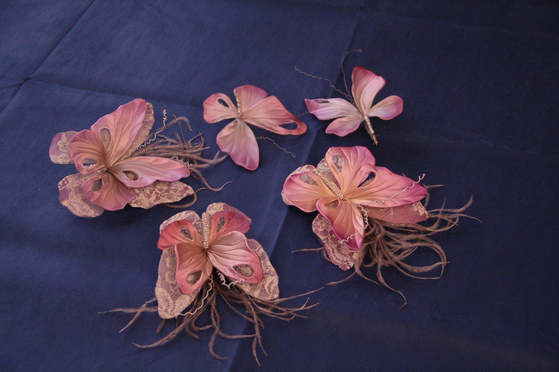Бабочки своими руками из шелка фото 65