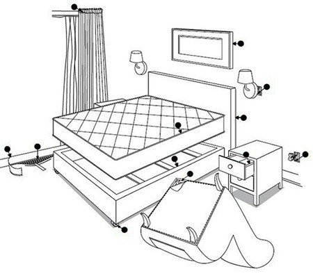 места в квартире, где могут завестись домашние клопы