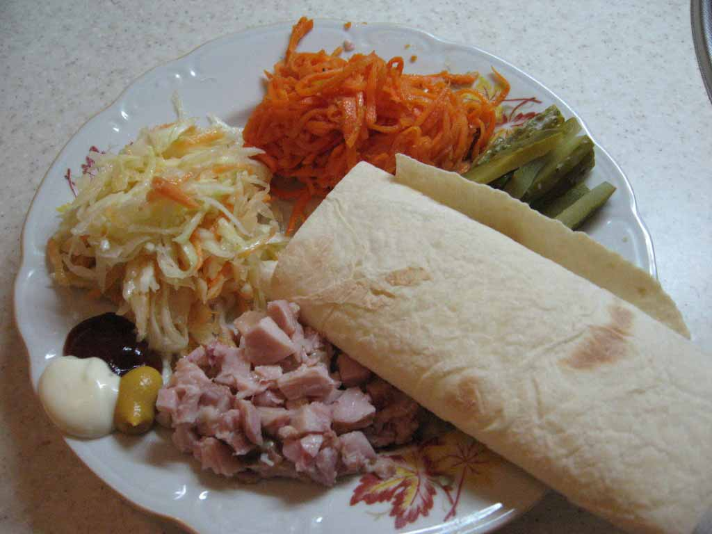 шаурма с морковью и курицей в домашних условиях рецепт с фото