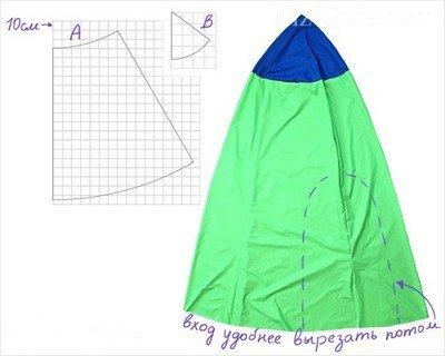 Схема детского шатра