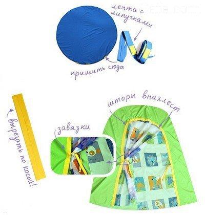 Схема сборки детского шатра