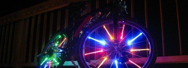 тюнингованный велосипед с подсветкой колёс