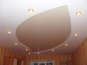 потолок окрашенный из гипсокартона