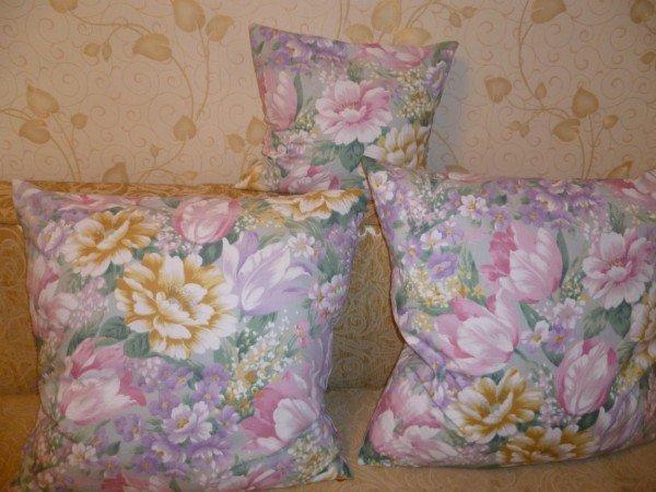 перьевые подушки в наволочках