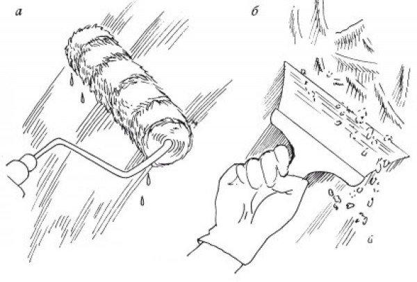 Как снять побелку с помощью шпателя и воды