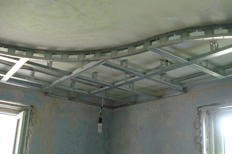 Как собрать потолок из гипсокартона своими руками видео