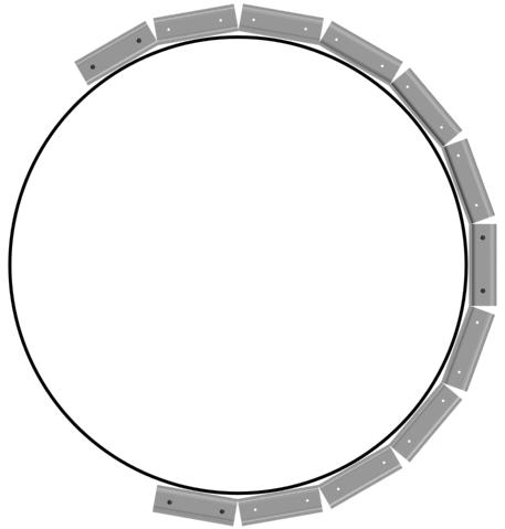 Профиль для монтажа потолка в виде круга
