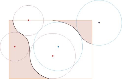Схема разметки потолка с элементами волн и изгибов