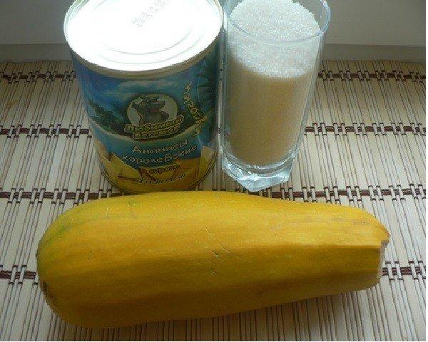 Ингредиенты для варенья из кабачков