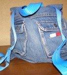 Джинсовый рюкзак в спортивном стиле