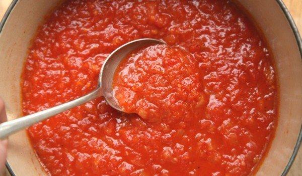 Измельчённые помидоры