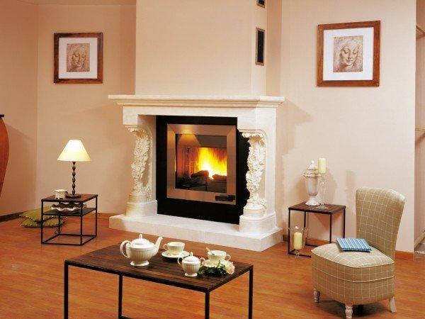 Polyurethane fireplace