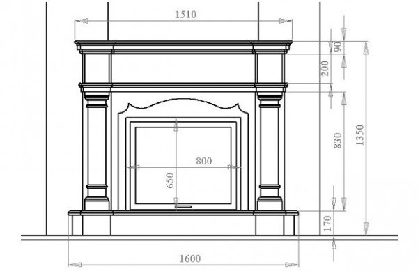 Fireplace layout