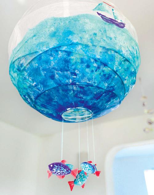 Декоративный абажур Морской