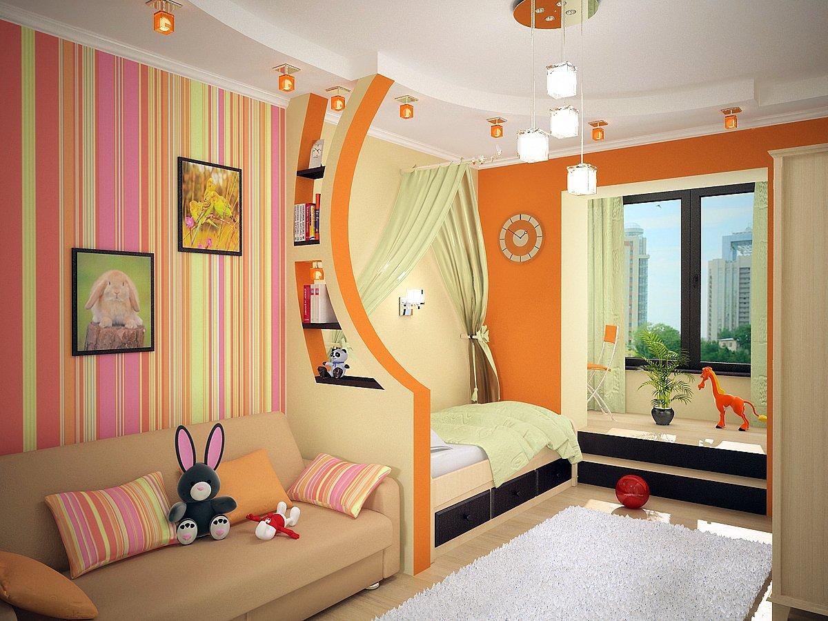 Дизайн и интерьер детской комнаты для девочек