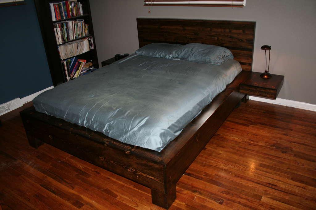 Сделать кровать из дерева своими руками с ящиками