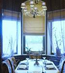 Римская штора в столовой