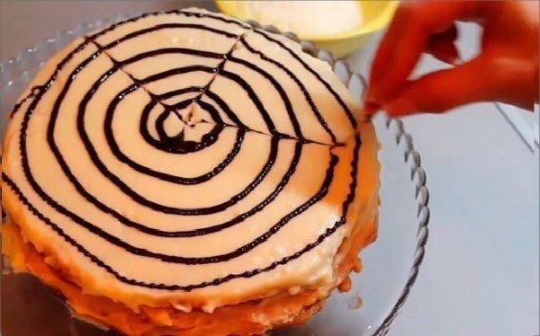 узор на торте