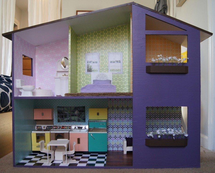 Картонные домики для кукол