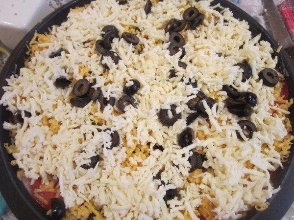 начинка из сыра и маслин