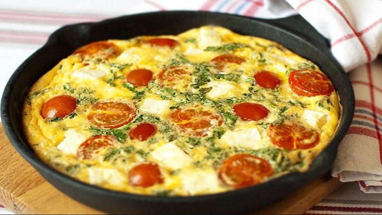 как приготовить яичницу с помидорами для всей семьи