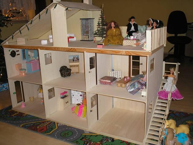 Дом для кукол для барби своими руками