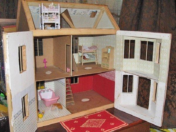 Как построить домик для барби своими руками