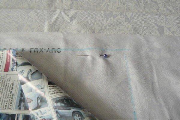 фиксация ткани булавками