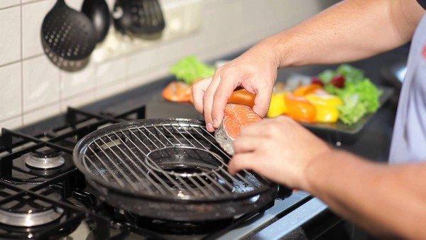Готовка на сковороде-гриль