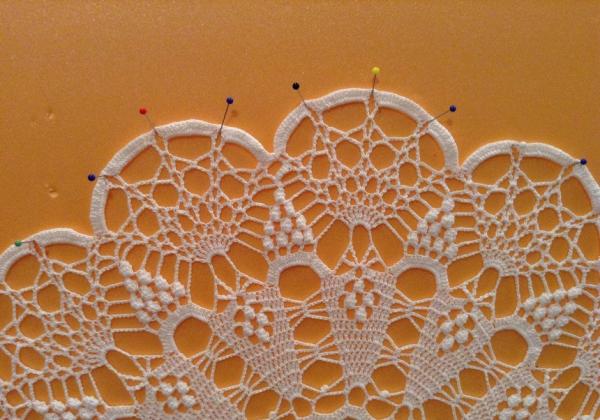 придание формы салфетке